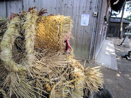 野口神社の蛇綱